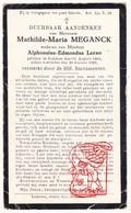 DP Mathilde M. Meganck ° Lokeren 1864 † 1929 X Alphonsius E. Lerno - Devotion Images