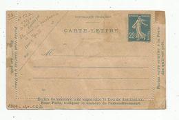 Carte Lettre , ENTIER POSTAL NEUF , 25c - Cartes-lettres