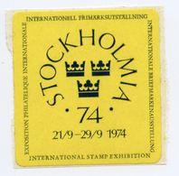 CINDERELLA : SWEDEN - STOCKHOLM 1974 - INTERNATIONAL STAMP EXHIBITION - Cinderellas