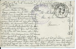Zichtkaart Le Havre Verstuurd Van Ste Adresse Naar Rouen - Nevenstempel ARSENAL DE CONSTRUCTION AUTOMOBILE ARMEE BELGE - Oorlog 14-18