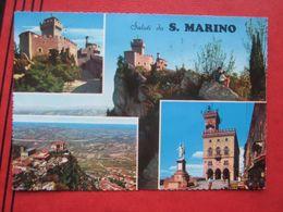 "San Marino - Mehrbildkarte ""Saluti Da S. Marino"" / Irrläufer - Weitergeleitet - San Marino"
