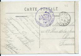Zichtkaart Liguge Met Stempel CORRESPONDANCE PRIVEE Verstuurd Van Hopital Militaire Belge Te Liguge - Oorlog 14-18