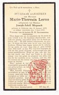 DP Marie Th. Lerno ° Lokeren 1875 † 1931 X Joseph A. Meganck - Devotion Images