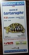 "TURTLE TORTOISE TORTUE TARTARUGA TORTUGA 2006 ITALIAN SHOW ""TARTARUGHE BEACH"" ADVERTISEMENT - Aquarium"