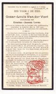 DP Cesar L. Van Der Vaet ° Kalken Laarne 1864 † Lokeren 1931 X Ermina J. Lerno - Devotion Images