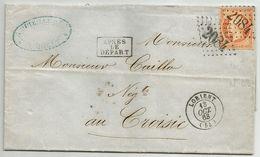 LETTRE à Mr CAILLO JEUNE, Négociant Et Armateur, LE CROISIC Loire-Atlantique. Napoléon N° 23. LOSANGE GC 2084 Lorient - 1849-1876: Période Classique