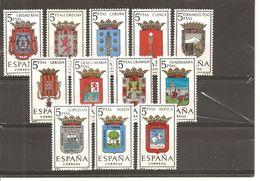 España/Spain-(MNH/**) - Edifil  1481-92 - Yvert 1151-56, 1179-84 - 1961-70 Nuevos & Fijasellos