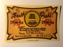 Allemagne Notgeld Lugde 50 Pfennig - [ 3] 1918-1933 : Weimar Republic