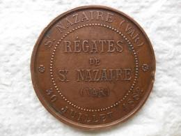 Médaille Régates De St Nazaire (Var) 30 Juillet 1882 - France