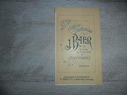 Origineel Knipsel ( 1333 )  Coiffeur  Parfumier J. Baer  Montreux - Lithographie A. Trüb Lausanne ( Schweiz Suisse ) - Pubblicitari