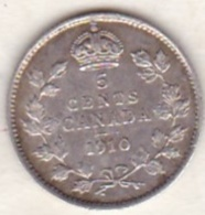 CANADA . 5 Cents 1910 . Edward VI. Argent . - Canada