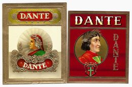 2 Etiquettes  GAUFREES -  Cigares  D A N T E - Labels