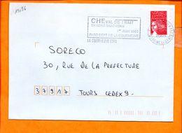 SEINE ST DENIS, La Courneuve, Flamme SCOTEM N° 19086, Cheval De Trait En Seine St Denis, 1er Juin 2003 - Oblitérations Mécaniques (flammes)