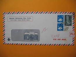 Lettre  Du Japon Voyagé Par Avion Pour La France En Pli Urgent  Arrivé Ave De Wagram Transité Par Orly Centre 1972 - 1926-89 Empereur Hirohito (Ere Showa)