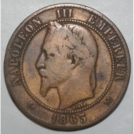 GADOURY 253 - 10 CENTIMES 1863 K BORDEAUX TYPE NAPOLEON III - TB - KM 798.3 - France