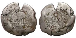 2 Reales 1846 (Costa Rica) Counterstamped Coinage - Silver - Costa Rica