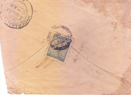 PORTUGUESE INDIA - 1937 COMMERCIAL COVER SENT TO HYDERABAD, BRITISH INDIA WITH CENSOR MARKING - Portuguese India