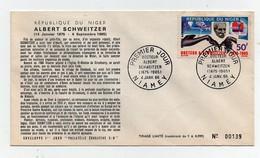 NIGER Enveloppe Premier Jour Philatélie éducative Albert SCHWEITZER 1966 Numéro 0139 - Stamps (pictures)