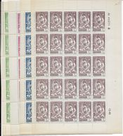 ALGERIE - 1944 - YVERT N° 205/208 **  - FEUILLES COMPLETES Avec COIN DATE 1943 + VARIETE RECTO VERSO SUR 206 - Algérie (1924-1962)