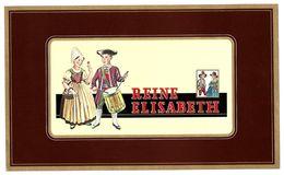 2 Etiquettes  GAUFREES LITOGRAPHIEES -  Cigares REINE ELISABETH - Labels