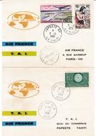 Tour Du Monde Air France TAI 1961 - Athènes Téhéran Bangkok Saigon Sydney Nouméa Tahiti Hawaï Los Angelès Montréal - Lettres & Documents