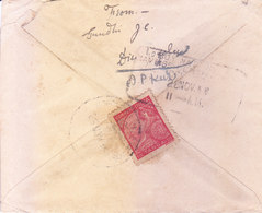 PORTUGUESE INDIA - 1940 COMMERCIAL COVER SENT TO RAJKOT, BRITISH INDIA WITH CENSOR MARKING - Portuguese India