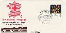 Avignon 1985 - Congrès Du Secourisme - Pont - Croix-rouge - Postmark Collection (Covers)