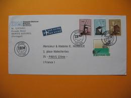 """Lettre  Du Portugal  Monte Estoril  Voyagé Par Avion  Pour La France  Paris 1971  """" IBM  """" - 1910-... République"""