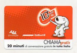Telecom - Scheda Chiama Gratis - 2002 - TITANEDI - 20 Minuti Di Conversazione Gratuita - NUOVA -(FDC7777) - Italy