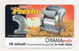 Telecom - Scheda Chiama Gratis - 2002 - IMPERIA - 10 Minuti Di Conversazione Gratuita - NUOVA -(FDC7778) - Italy