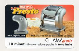 Telecom - Scheda Chiama Gratis - 2002 - IMPERIA - 10 Minuti Di Conversazione Gratuita - NUOVA -(FDC7778) - [2] Sim Cards, Prepaid & Refills