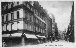 Cpa Caen 14 Calvados Rue St Jean - Caen