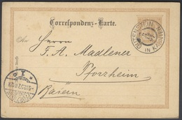 G492 KuK Österreich-Ugarn Ganzsache Postkarte 1897 Schöner Handstempel Gutenstein Kärnten K2 Firmenpost N. Pforzheim - 1850-1918 Empire