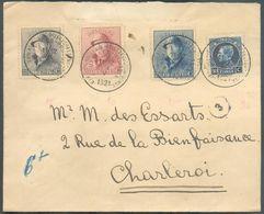 Lettre Affr. ROI CASQUE PETIT MONTENEZ à 1Fr. Obl. Sc BRUXELLES EXPOSITION PHILATELIQUE 23-V-1921 Vers Charleroi - 12428 - 1919-1920  Cascos De Trinchera