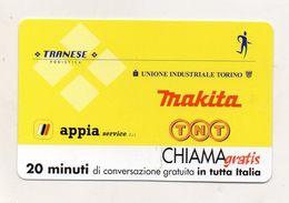 Telecom - Scheda Chiama Gratis - 2002 - MAKITA - TNT - 20 Minuti Di Conversazione Gratuita - NUOVA -(FDC7781) - Italy