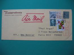 """Lettre USA  Maglia California   Par Avion Pour La France  1976  """" Texturfects """" - Stamps"""