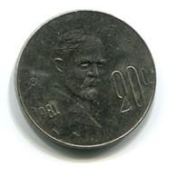 1981 Mexico 20 Centavos Coin - Mexico
