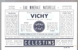 Buvard VICHY Eau Minérale Naturelle Vichy HOPITAL CELESTINS Vichy Grande-Grille - Limonadas - Refrescos