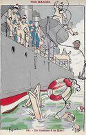 CPA  Militaria Humoristique. Illustrateur H. GERVESE.  N°59  Nos Marins, Un Homme à La Mer, Bouée...CO 436 - Gervese, H.
