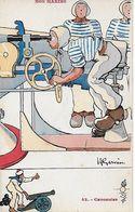 CPA  Militaria Humoristique. Illustrateur H. GERVESE.  N°42  Nos Marins, Canonnier, Canon...CO 437 - Gervese, H.