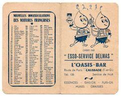 Carton Publicitaire Offert Par ESSO - SERVICE DELMAS, Station Service à CAUSSADE, Tarn Et Garonne ( Figurines ESSO ). - Pubblicitari