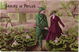 GRAINE DE POILUS ,BEBES MULTIPLES REF 54932 - Humour