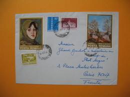 Lettre Roumanie Romana    Pour La France  1975 - Cartas