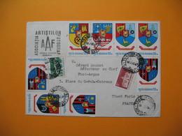 """Lettre Roumanie Romana    Pour La France  1980  """" Asociatia Artisilor Fotograf """" - Cartas"""