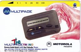 INDONESIA INDONESIEN  INDONESIE - IND P 451- P 452  Multipage Motorola Pagers 5000ex. - MINT RRR - Indonesia