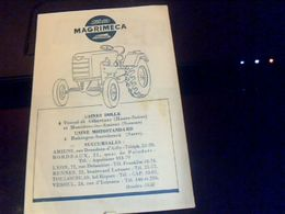 Publicitee Tracteurs Magrimeca  Motostandard Depliant Publicitaire - Pubblicitari