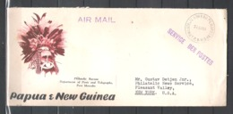 Lettre Papoua & New Guinea Moresby Vers New-York Usa 31.8.61 - Papouasie-Nouvelle-Guinée