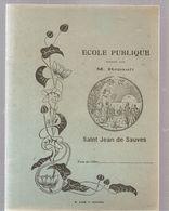 Cahier Ecole Publique Dirigée Par M. RENAULT à Saint Jean De Sauves De 1935 Cahier écrit - Book Covers