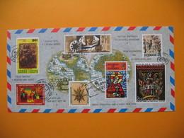 Carte  Lettre Souhaitant Un Joyeux Noël Et Bonne Année De 7 Pays Différents 1973 - New Year