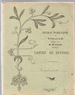 Cahier De Devoirs Ecole Publique De Vouillé Dirigée Par M. RICHARD De 1920 Cahier écrit - Book Covers
